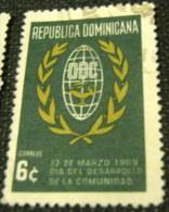 Dominican Republic 1969 Community Development Day 6c - Used - Dominican Republic
