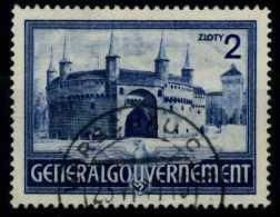 GENERALGOUVERNEMENT Nr 63 Zentrisch Gestempelt 7210EA - Besetzungen 1938-45