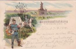 1900 D. Reich, MILITARIA EF, SELTENERE Ansichtskarte K�ln/Lockstedt. MK