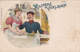 1903 D. Reich, MILITARIA MeF, SELTENERE Karte. gelaufen. MK