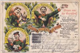 1903 D. Reich, MILITARIA EF, SELTENERE Karte Gruss aus der Garnison gelaufen Posen/Borsigwalde. MK
