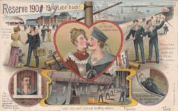 1904 D. Reich, MILITARIA EF, SELTENERE Karte Reserve 1901/ gelaufen Kiel/Basbeck. MK