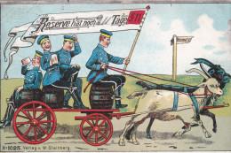 1911 D. Reich, MILITARIA EF, SELTENERE Karte Reserve, gelaufen Schleswig/Elmshorn. MK