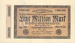 Deutschland, Germany - 1 Mio. Mark, Reichsbanknote, Ro. 93, ( Serie: Va - DB ) 1923 ! - 1918-1933: Weimarer Republik