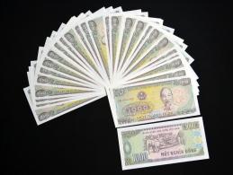 50PCS Asia Vietnam 1000Dong. UNC - Coins & Banknotes