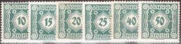 AUSTRIA ÖSTERREICH 1922 Porto Ergänzungswerte Zu NR.103/07 MNH / ** / POSTFRISCH EINWANDFREI - Strafport