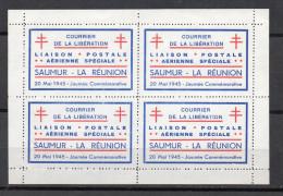 France Libération Saumur - La Réunion Mayer 1 Dentellé Neuf Sans Gomme Imprimé Comme Tel à L'origine - Liberation