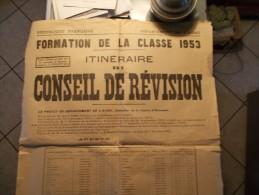 conseil de r�vision formation de la classe 1953 dans le d�partement de l aisne