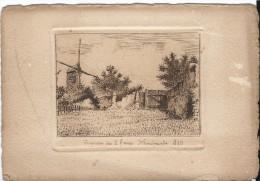Jolie Gravure, Impasse Des 2 Freres Montmartre 1880 - Gravures