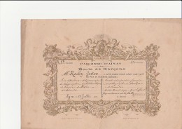 BULLETIN DE REMISE DE PRIX - LYON ECOLE DE GARCONS PAROISSE D'AINAY- 1923 - Diploma & School Reports