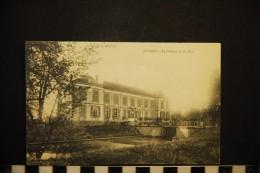 CP, 51, JUVIGNY Le Château Vu Du Parc Voyagé En 1914 - Autres Communes