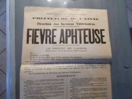 d�partement de l aisne 1951 fievre aphteuse direction de services veterinaires arr�t�