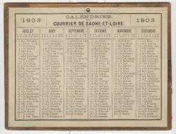 Calendrier 1903 15 X 20 Cm - Big : 1901-20