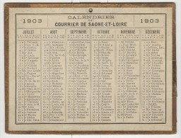 Calendrier 1903 15 X 20 Cm - Grand Format : 1901-20