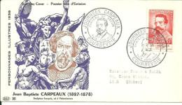 Courbevoie  07 06 1958 Jb Carpeaux - FDC