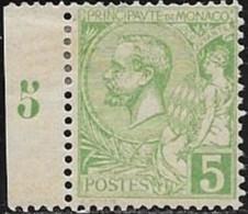 MONACO N° 22 - PRINCE ALBERT 1ER  -  1901  NEUF - Monaco