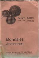 CATALOGUE GERARD BARRE FIN D ANNEE 1978            TDA42A - Livres & Logiciels