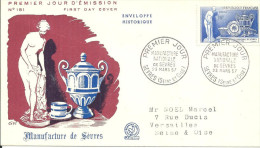 Sevres 23 03 1957 Manufacture - FDC