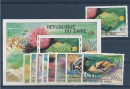 Zaire - 1041/1048 + 1049 + Bloc 45 - Poissons - 1980 - MNH - Zaïre