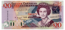 EAST CARIBBEAN STATES 20 DOLLARS ND(2003) DOMINICA Pick 44d Unc - East Carribeans