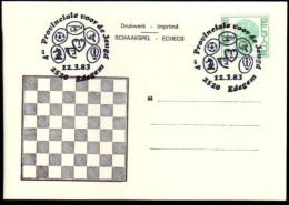 Schaken Schach Chess ajedrez �checs - Edegem 12.03.1983