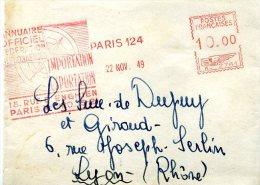 EMA Meter Machine Affranchir HAVAS Type K Bande Pour Journal 1949 Carte Boussole - Marcophilie (Lettres)