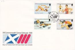 Isle Of Man 1986 Commonwealth Games FDC - Isle Of Man