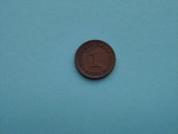 1900 F - 1 Pfennig - KM 10 ( For Grade, Please See Photo ) !