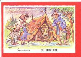 59 GHYVELDE Cpsm Humour Camping Vache    Serie 1981 MD - Autres Communes