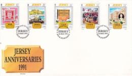 Jersey 1991 Anniversaries FDC - Jersey