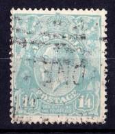 Australia 1920 King George V 1/4d Dull Greenish Blue Single Crown Wmk Used  SG 66a