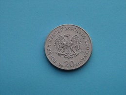 1976 - 20 Zloty MARCELI NOWOTKO - Y# 69 ( For Grade, Please See Photo ) ! - Pologne