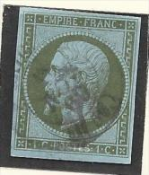 Timbre N°11 - Oblitération Petit Cachet à Date - 1853-1860 Napoléon III