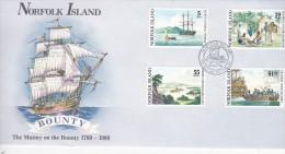 Norfolk Island 1989 Bounty FDC - Norfolk Island
