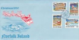Norfolk Island 1990 Christmas FDC - Norfolk Island