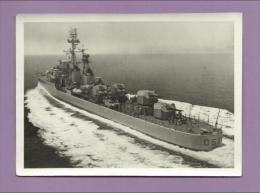"""Photographie originale - Escorteur d�Escadre """"CHEVALIER PAUL"""" - D626 - Marine nationale fran�aise - Scans recto-verso"""