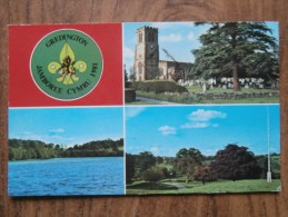 39630 POSTCARD: SCOUTING: Gredington Jamboree Cymru 1981. Hamner Church / Hamner Mere / Gredington Estate. - Scouting