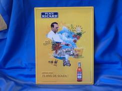 """Plaque Métal """"RICARD""""  Modèle 2007. - Plaques Publicitaires"""