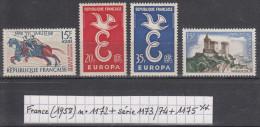 France (1958) Y/T N° 1172 + Série 1173/1174 + 1175 Neufs ** - Francia