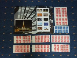 COLLECTION FRANCE  32 CARNETS NEUFS MAJ. DIFF. TB/SUP FACIALE 145 � DONT CARNETS/VALIDITE PERMANENTE.