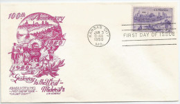 États-Unis 1950 545 FDC Kansas City Centenial - Chevaux Cheval - Paarden - Horses - Pferde - Caballos - Cavalli - Horses