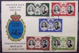 Ersttagskarte Zur Fürstenhochzeit Am 19.Avril 1956 - Gracia Patrizia + Rainier - Monaco