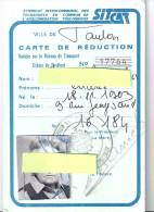 CARTE DE REDUCTION- VILLE DE TOULON- SITCAT- 1984