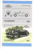 Triumph Dolomite  (1939)  -  2v Se-tenant MNH  -   St.Vincent - Voitures