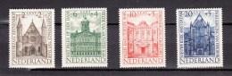 Netherlands 1948,4V,set,building,gebouw,gebäude,bâtiment,edificio,MH/Ongebruikt(A1569) - Monumenten