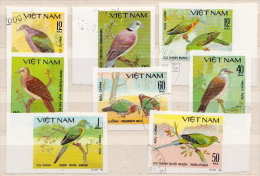 Vietnam CTO Imperforated Set - Columbiformes
