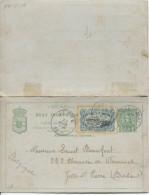 Belgisch Congo Belge CPRP 12 + TP 18 C.Léopoldville En 1896 V.Jette C.d'arrivée PR1745 - Entiers Postaux