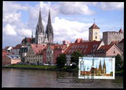 85308) BRD - Michel 2845 - MK/MC Maximumkarte 1/2011 - Altstadt Regensburg - D.Post Auflage 3.000 - Kirche - [7] Federal Republic