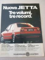 # ADVERTISING PUBBLICITA' NUOVA JETTA TRE VOLUMI  VOLKSWAGEN -- 1984  -  OTTIMO - Werbung