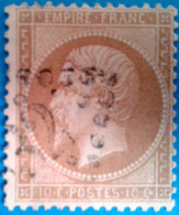 France 1863 : Type Napoléon III Lauré N° 28B Oblitéré - 1863-1870 Napoléon III Lauré